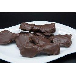 Lazos de chocolate sin azúcar. Caja 2,5 kg.