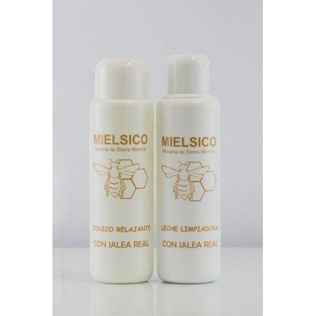 Tónico y leche limpiadora facial con Jalea